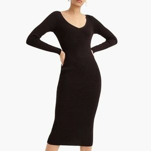 NWT J. Crew Collection Ribbed Sweater Dress Midi S